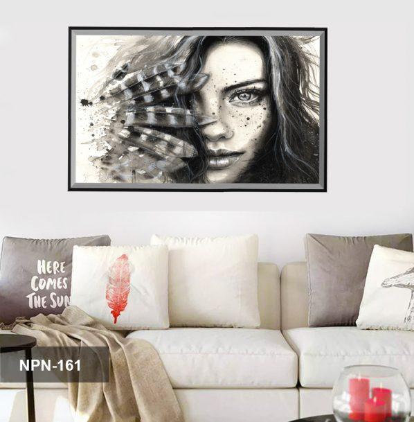 Tranh canvas treo tường phụ nữ và nghệ thuật