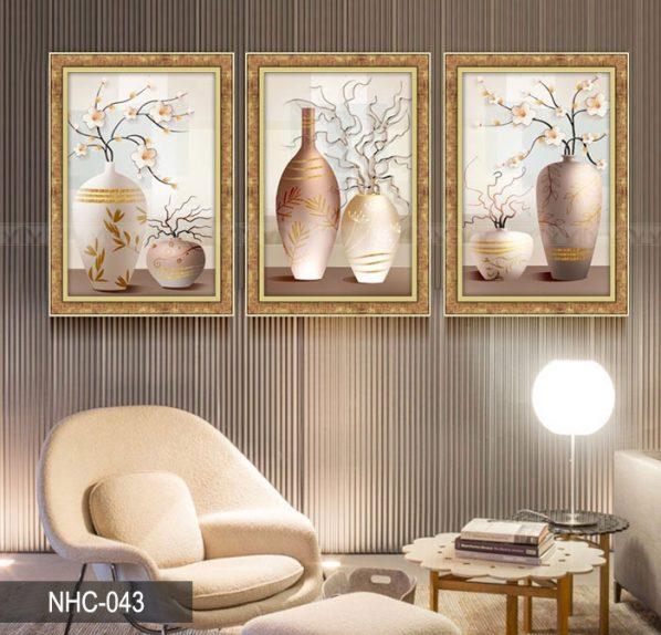 Tranh canvas treo tường bình hoa nghệ thuật NHC-043