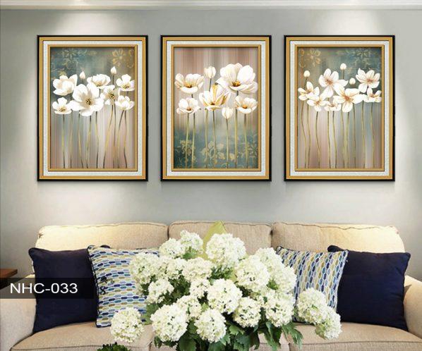 Tranh canvas treo tường hoa đua nở NHC-033