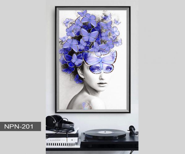 Tranh canvas treo tường phụ nữ nghệ thuật NPN-201