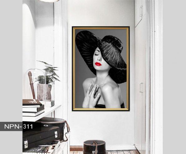 Tranh canvas treo tường phụ nữ quyến rũ